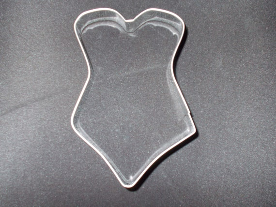 Swimsuit or Corset  Cookie Cutter Valentine's Day bathing suit beach or  wedding Made in USA