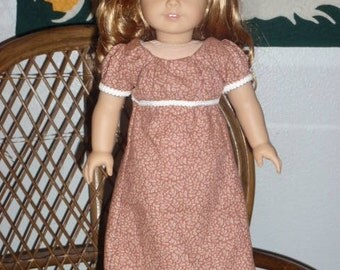1812 Regency Era Dress for American Girl Caroline 18 inch doll