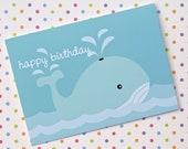 Happy Birthday Whale Card