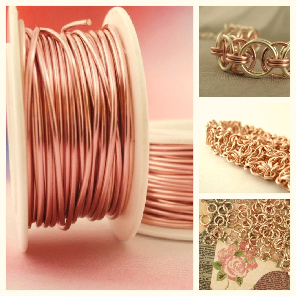 Rose Gold Copper: Rose Gold Colored Wire Enameled Coated Copper 100