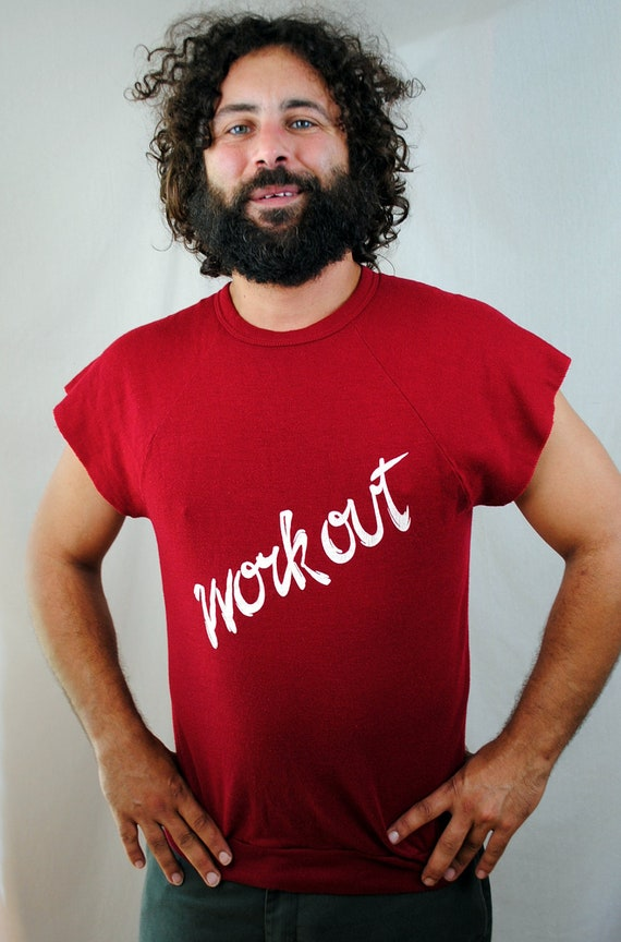 Vintage 80s Super Soft Work Out Muscle Sweatshirt