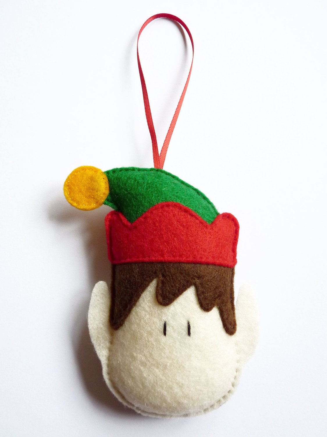 Sale 20 off felt elf christmas tree decoration ornament for Christmas ornaments sale