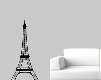 Eiffel Tower Wall Decal - Paris Wall Art - 4 Feet high - Large Size