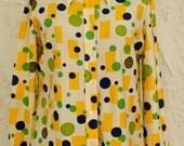 Vintage 1960s Ship n Shore Geometric Button Up Shirt