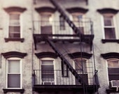 New York City Photography, Beige, Brown, Mint, Green, Architecture, New York Fire Escapes, NYC Art, Office Decor, Men