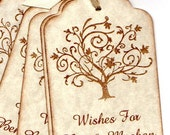 50 CUSTOM Personalized Wedding Wish Tags - Wedding Favor Tags - Elegant Tree Wedding Tags - Vintage Style