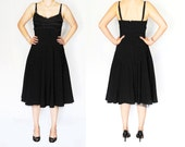 LA BELLE Black Vintage Cocktail Dress