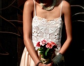 REDUCED, Altered Party Dress, Ranch Wedding, Garden Wedding, Rustic Tattered, Bridal Wear, OOAK Design, Altered Couture