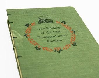 1950 RAILROAD Vintage Book Journal