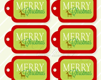 Merry Christmas PRINTABLE Gift Tags by Love The Day