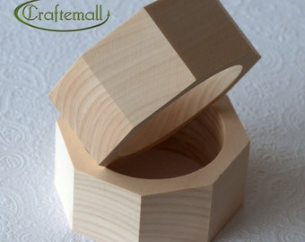 CLEARANCE: Wooden bangle - octagonal 40mm wide size M, unfinished wooden bracelet, wood bracelet, wood bangle, raw wood bangle