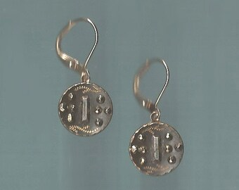 1800s Steel Cut Button Earrings