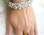Custom  order to Krystal wedding Jewelry Cuff Bracelet, hair comb