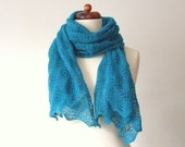 spring scarf lace shawl peacock green teal bridal wrap on sale