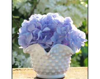 Petite Hobnail Milk Glass Vase by Fenton
