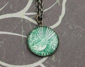 New Zealand Stamp Necklace