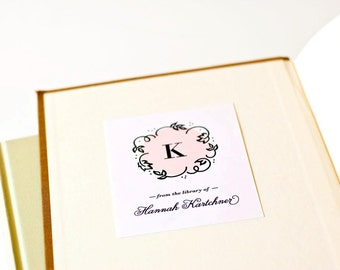 Personalized Bookplates, Custom Bookplate Sticker, Mother's Day Gift // SO SWEET