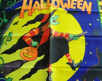 SALE - Fabric Destash -  Happy Halloween Flying High Banner by Fabric Traditions