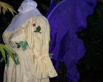 Adult Handmade PURPLE PIXIE FAIRY Wings dark Butterfly Halloween cospaly costume xs steampunk emo Gypsy faerie fey pirate elf queen dress up