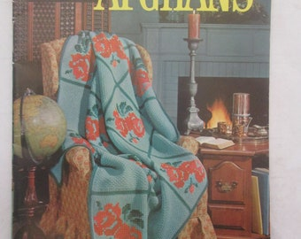 Coats and Clarks 142 Afghans 60s Crochet Pattern Booklet
