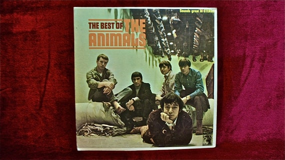 The ANIMALS - The Best of the Animals - 1966 Vintage Vinyl GATEFOLD Record Album