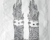 Anthropomorphic Winter Tree Screen Print Patch