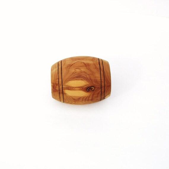 Vintage wood toothpick holder folk art matchstick by whimzythyme - Wooden pocket toothpick holder ...