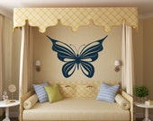 Large Butterfly Decal Vinyl Wall Art Girls Butter Fly wall decals