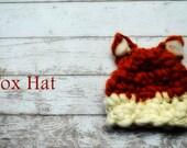 Newborn Hat Merino Woodland Fox PDF Pattern/ Instructions Photography Prop