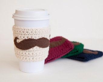 Rustic Coffee Cozy Set, Coffee Sleeve Set of 4