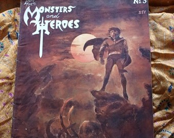 Monsters And Heroes Magazine No 5 Issued 1969 Frankenstein Capt Midnight Altron Boy Robby Comicon 64 Burroughs Sci Fi Horror