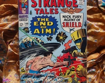 Strange Tales 149 Marvel Comics Nick Fury Agent Of SHIELD The End Of A I M Oct 1966 Sci Fi