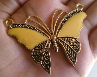 Beautiful Gold and Yellow Butterfly Pendant