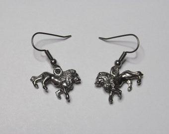 Bold Lion Earrings