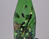 SALE--FRESH WATER Fishing Recycled Bottle Accent Lamp/Light-Great Gift