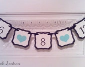 Save The Date Banner - In Your Custom Colors - Wedding or Birth Date - Photo Prop
