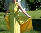 1960s Gold Modern Couture Gown CLEARANCE