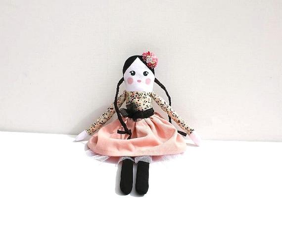 Rag Doll, Cloth Doll, Fabric Doll, Handmade Doll, Pink