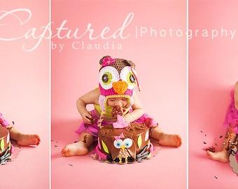 baby owl hat, kids owl hat, newborn owl hat, crochet owl hat