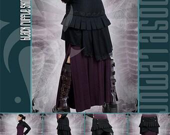 Black Lace Bustle Skirt by Loose Lemur Clothing