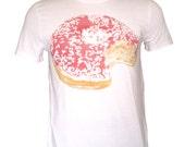 Pink faded kawaii Donut vintage effect white tshirt