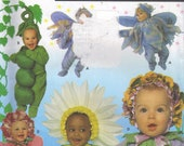 Simplicity Halloween Costume Sewing Pattern Baby Sweet Pea Anne Geddes Babies Daisy Flower Fairy Infants Toddlers Uncut FF