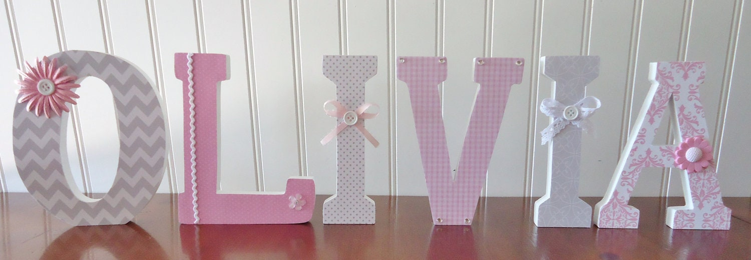 wall letters nursery wall decor wooden letters custom name