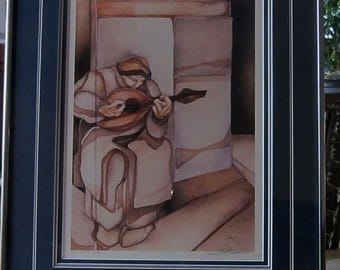 Jody Bergsma The Lute Player - Signed Limited Edition Giclee Print - Original Art Numbered Certified