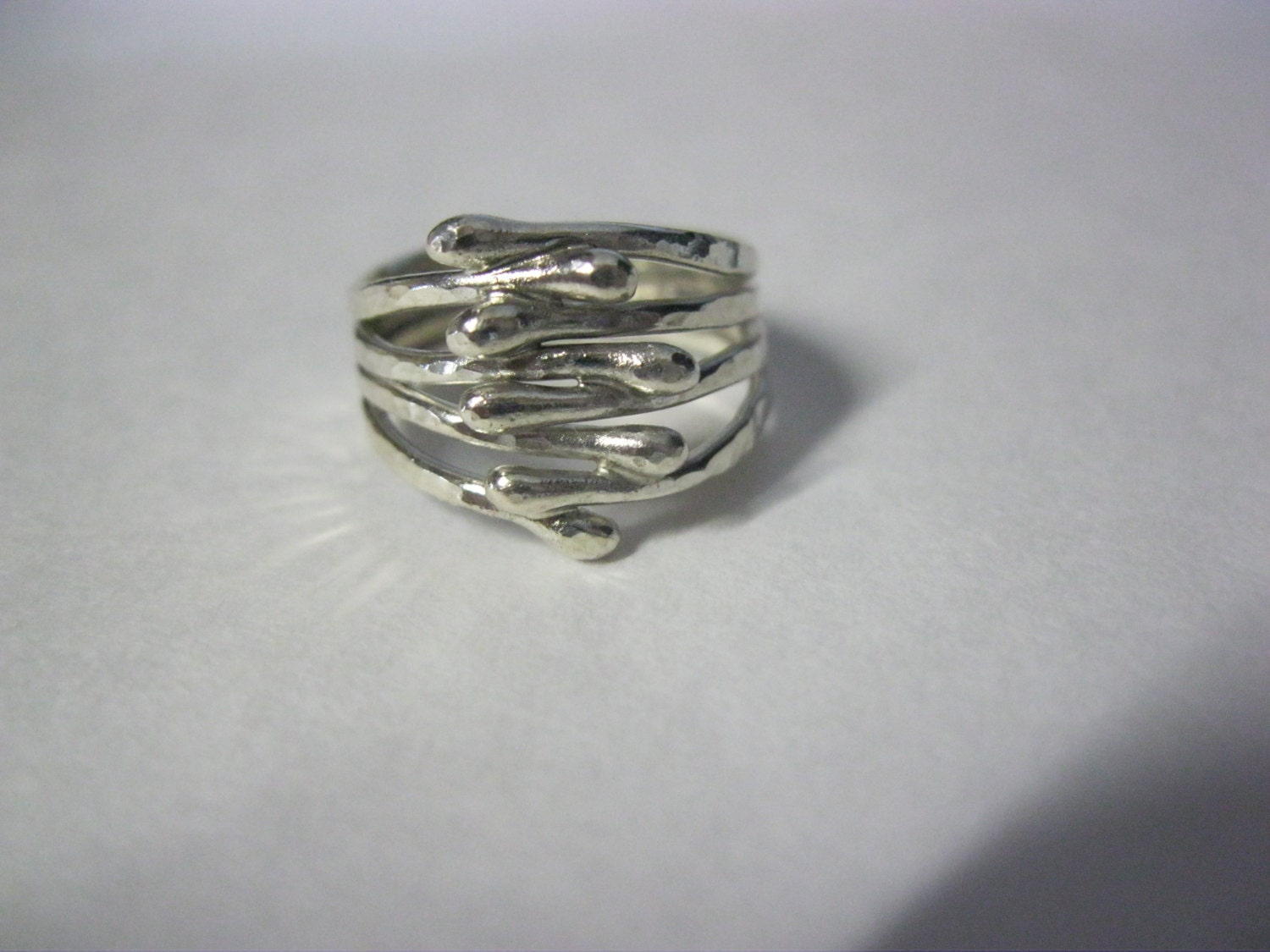 unique argentium silver rings handforged by bmstudiosilver