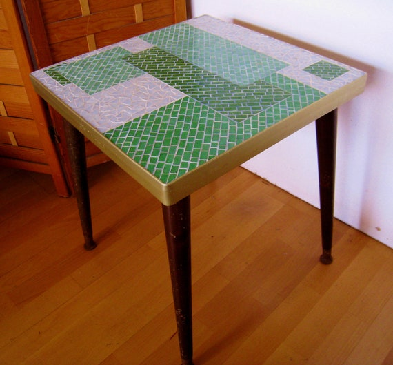 Reserved for Neal Mid Century Modern Gio Ponti mosaic tiled table