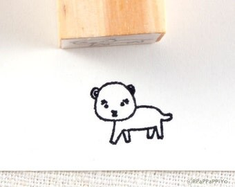 Bear Small Rubber Stamp