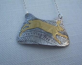 Running free hare pendant
