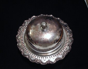 Vintage Silver Plate Bun Muffin Warmer Domed Server