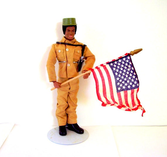 Reserved for Harry 1970s GI Joe African American Adventurer Doll and Accessories  7404